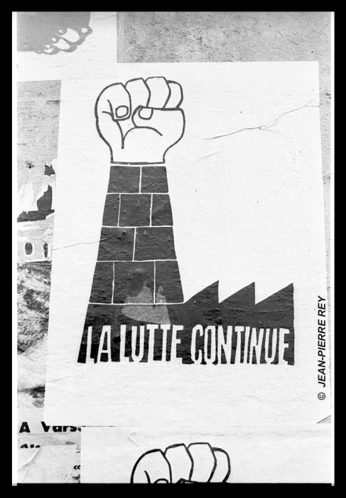 Affiche. La lutte continue