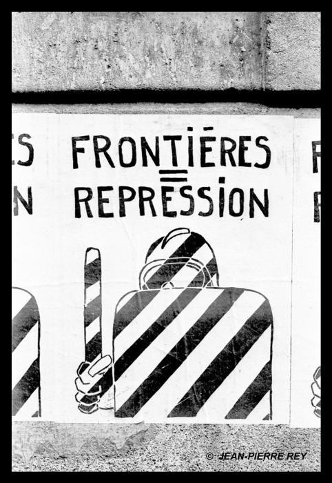 Affiche Frontière répression