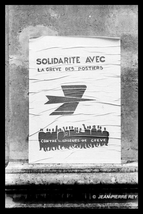 Affiche Greve postiers