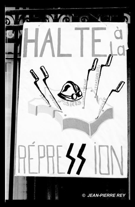 Affiche Halte répression