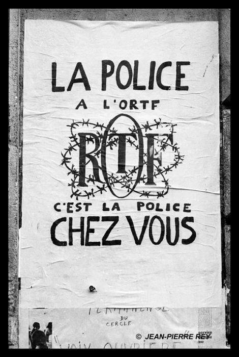 Affiche police ORTF