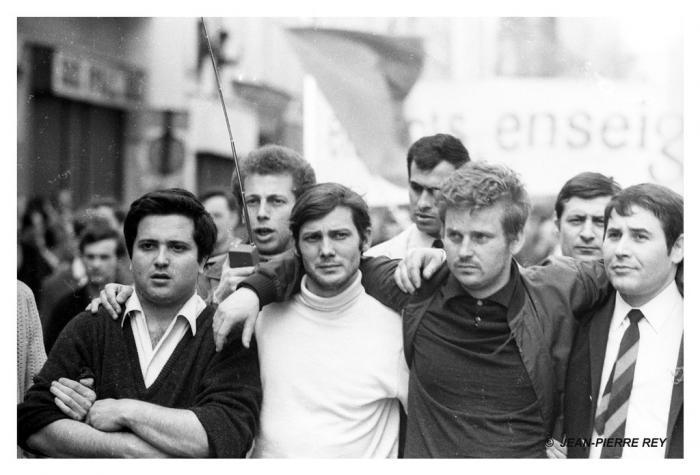 13 mai 1968 - A. Geismar, J. Sauvageot, D. Cohn-Bendit