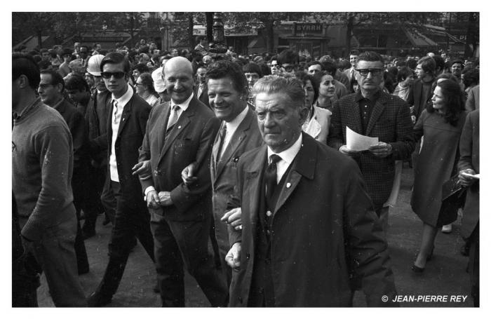 13 mai 1968 - Les dirigeants de la CGT