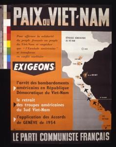Affiche de propagande du PCF en 1953 pour l'arrêt des conflits. AD93 - Archives du PCF 89Fi/318.