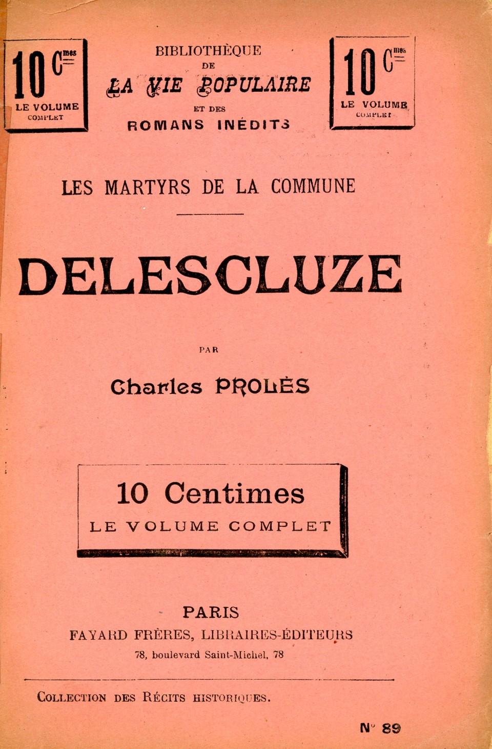 Les martyrs de la Commune : Delescluze