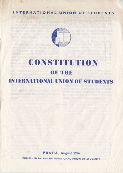 Constitution de l'Union internationale des étudiants