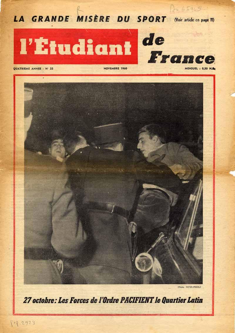 L'étudiant de France du 01/11/1960