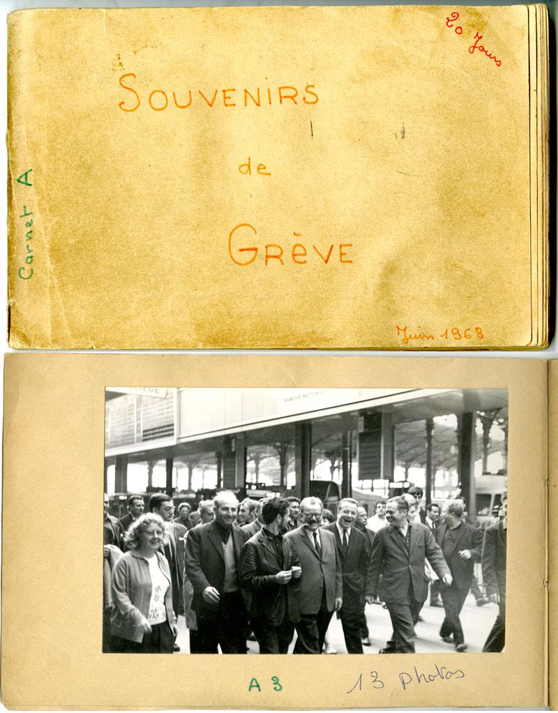 Carnet de photos « souvenirs de grève », juin 1968