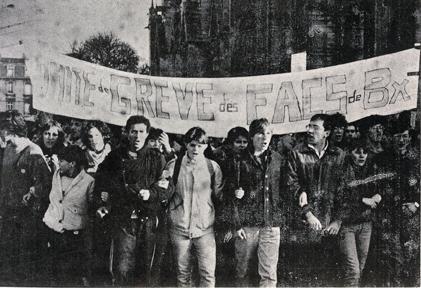 Manifestation contre le projet de loi Devaquet en 1986, à Bordeaux