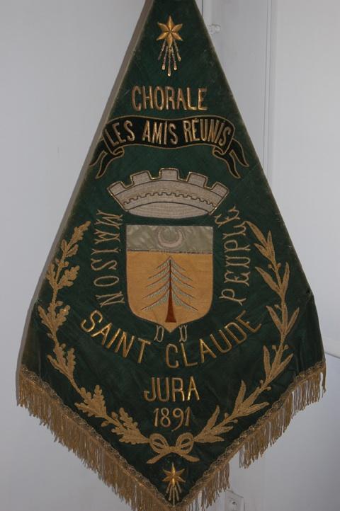 Fanion de la chorale Les Amis Réunis (1891).