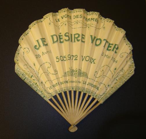 Je désire voter. 26 avril – 3 mai 1914. 505.972 voix. « Le vote blanc » organisé par « Le Journal ».