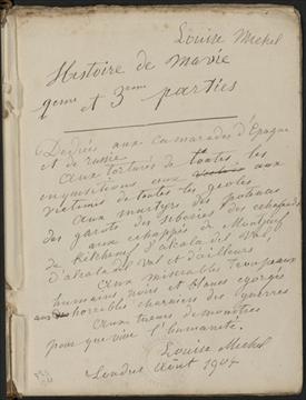 Histoire de ma vie / Louise Michel : seconde et troisième parties : Londres, août 1904.