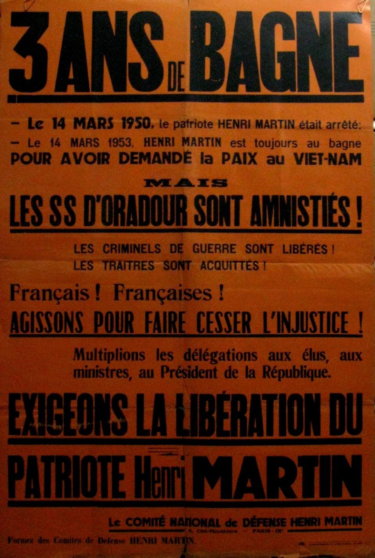 « Exigeons la libération du patriote Henri Martin »
