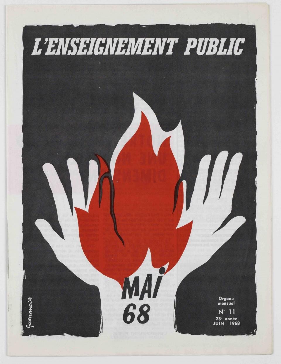 Couverture de l'Enseignement public de juin 1968.