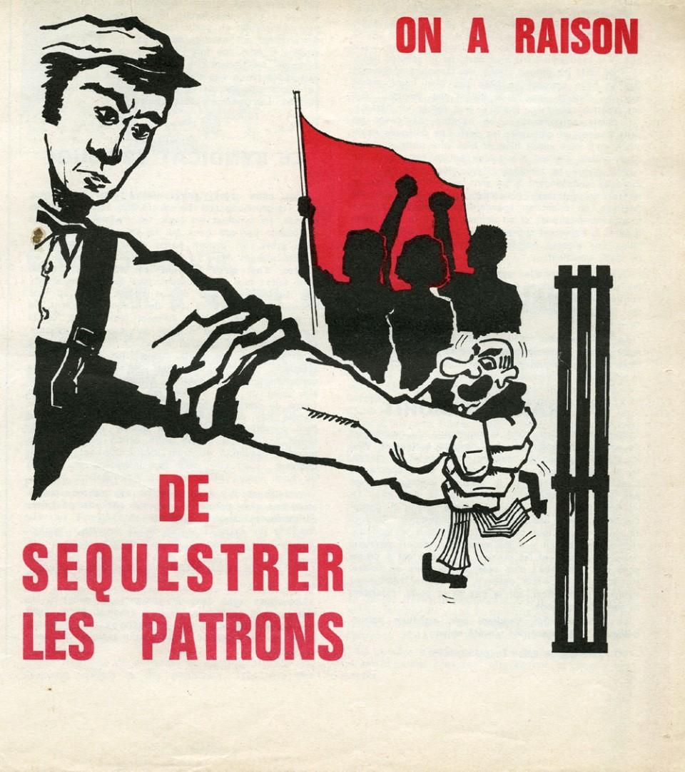 « On a raison de séquestrer les patrons ». Dessin paru dans La Cause du peuple (1969)