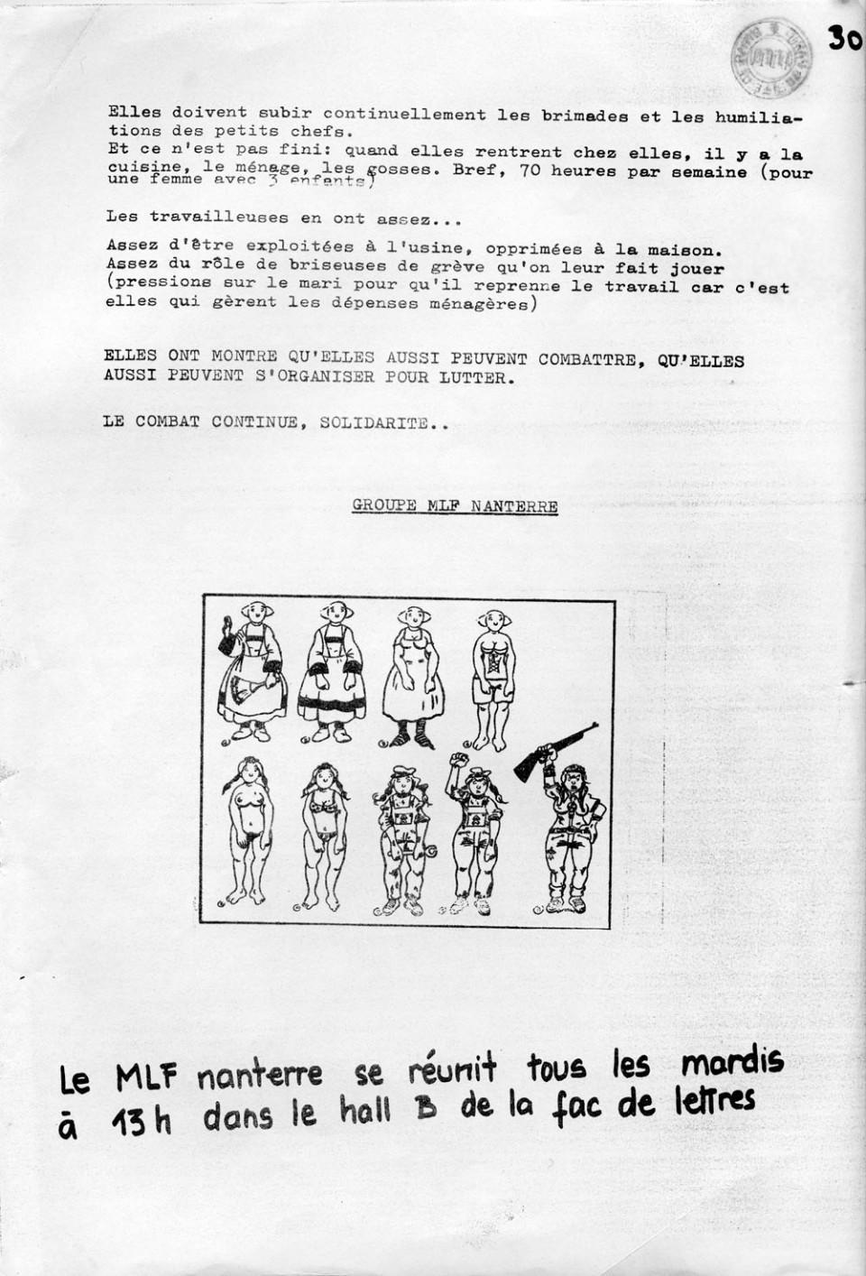 Couverture de la brochure « Les cocottes éclatent », 1973