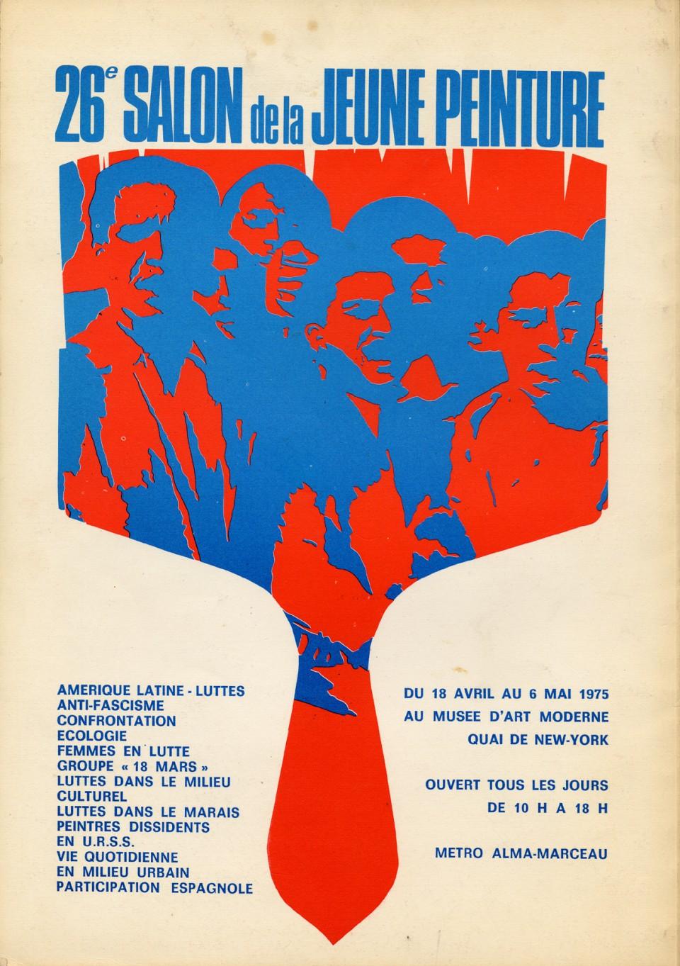 Affiche du 26e salon de la jeune peinture