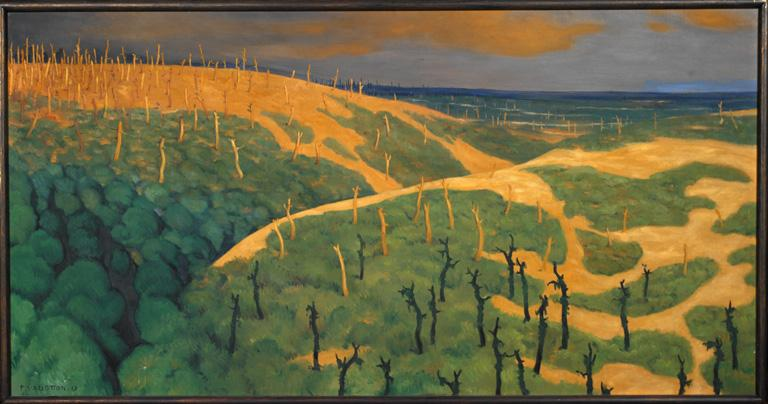 Plateau de Bolante, Argonne, Meuse, 1917 [Le bois de la Gruerie et le ravin des Meurissons]
